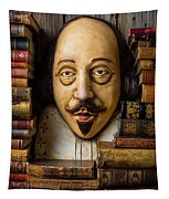 Shakespeare With Old Books Tapestry