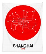 Shanghai Red Subway Map Tapestry