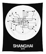 Shanghai White Subway Map Tapestry