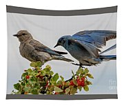Sharing A Perch Tapestry