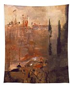 Siege Of A Castle 1910 Tapestry