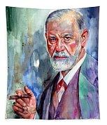 Sigmund Freud Portrait II Tapestry