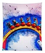 Silver Bullet Splat Tapestry by Matthew Nelson