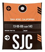 Sjc San Jose Luggage Tag II Tapestry
