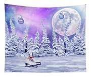 Skating Time Tapestry