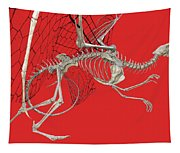 Skeleton Dragon With Red Tapestry