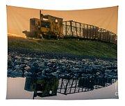Sky Train Reflection Tapestry