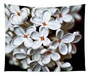 Small White Flowers Digital Tapestry