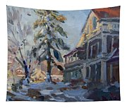 Snow In Town Tapestry