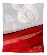 Snowflake With Red Tapestry
