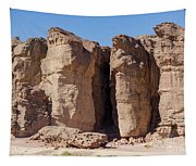 Solomon's Pillars In The Timna Valley In Southern Israel. Tapestry