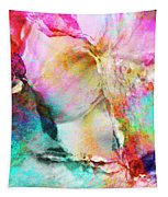 Somebody's Smiling - Custom Version 3 - Abstract Art Tapestry by Jaison Cianelli