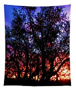 Sonoran Sunrise Ironwood Silhouette Tapestry