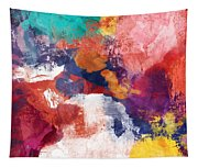 Spring Crush 3- Abstract Art By Linda Woods Tapestry
