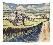 Spring In The Bellet Fruit Orchard Tapestry