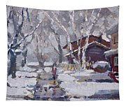 Spring Snow  Tapestry