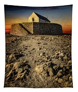 St Cwyfan Church Sunset Tapestry