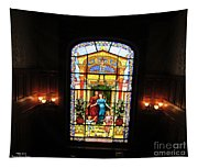 Stained Glass At Moody Mansion Tapestry