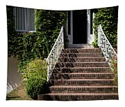 Stairs Leading To The Entrance Of A House Tapestry