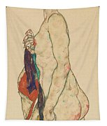 Standing Nude With A Patterned Robe, 1917  Tapestry
