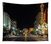 State Street With The Newly Lit Bristol Sign Tapestry