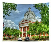 Stately Elegance Morgan County Court House Madison Georgia Art Tapestry