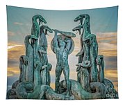 Statue Of Heracles The Hero Tapestry