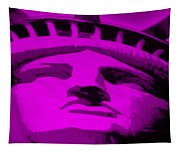 Statue Of Liberty In Purple Tapestry