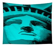 Statue Of Liberty In Turquois Tapestry