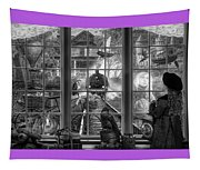 Steampunk Dreams In Black And White Tapestry