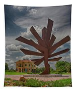 Steel Palm - Peace River Botanical And Sculpture Gardens Tapestry