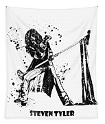 Steven Tyler Microphone Aerosmith Black And White Watercolor 02 Tapestry