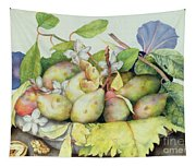 Still Life With Plums, Walnuts And Jasmine Tapestry