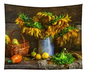 Still Life With Sunflowers Tapestry