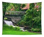 Stone Bridge And Waterfall Landscape Tapestry
