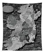 Stone Map Of Ireland Bw Tapestry
