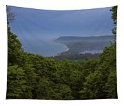 Stormy Day On Sleeping Bear Dunes Tapestry