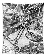 Street Cycles Tapestry