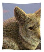 Study Of A Coyote Tapestry by James W Johnson