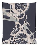 Stunt Bike Trickery Tapestry