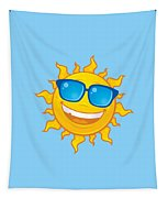 Summer Sun Wearing Sunglasses Tapestry