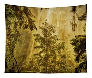 Sunbeams In The Foggy Forest #3 Tapestry