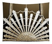 Sunburst Art Deco Sepia Tapestry