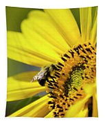 Sunflower And Bee Tapestry