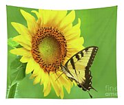 Sunflower And Swallowtail Tapestry