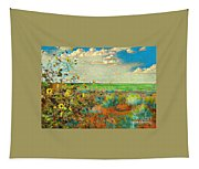 Sunflowers On The Edge Tapestry