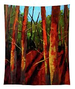 Sunny Forest Landscape Tapestry