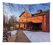 Sunny Winter Day At Bonneyville Mill Tapestry
