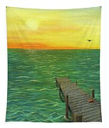 Sunrise At The Dock Tapestry