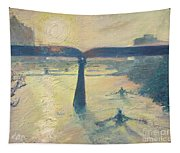Sunrise Rowers On Lady Bird Lake Austin Tapestry